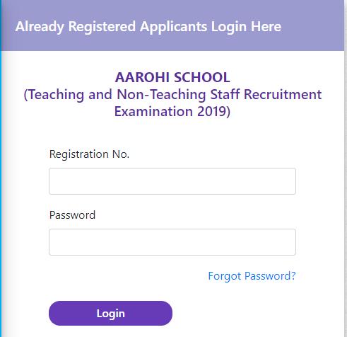 BSEH Aarohi School Librarian Clerk Principal TGT PGT September Exam Hall Ticket 2019