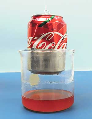Coke Can Coating removed
