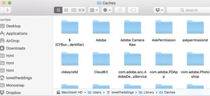 ~/Library/Caches