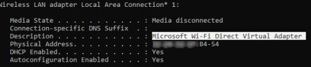 Check Wifi Direct for File Transfer on Windows 10