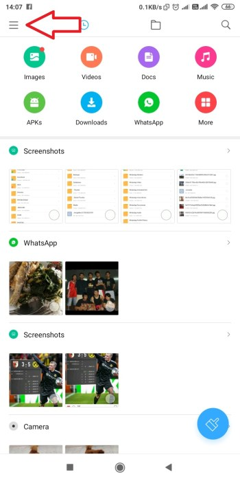 Android File Explorer Setting