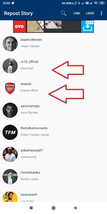 List of Account Instagram Stories