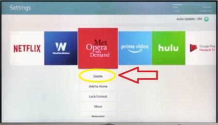 Delete Apps on Samsung Smart TV