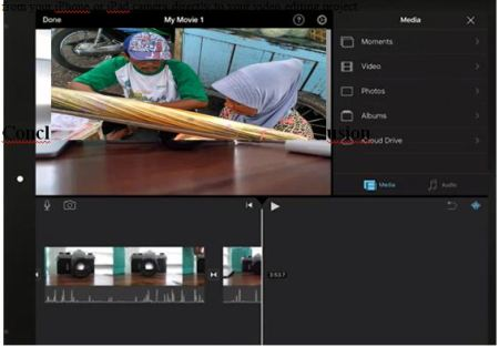 Main Editing Screen of iMovie