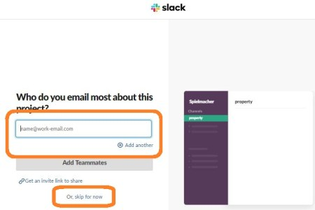 Create Slack Workspace-Invite Coworkers