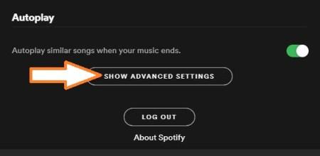 Spotify Advance Settings