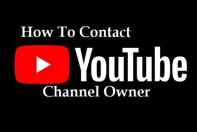How To Contact Youtube Channel Owner