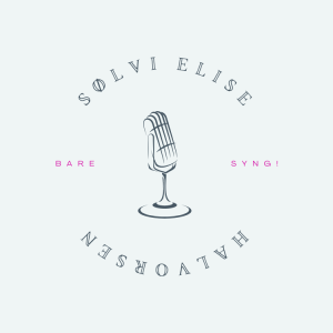 Logo: bilde av mikrofon, teksten Sølvi Elise Halvorsen, Bare syng!