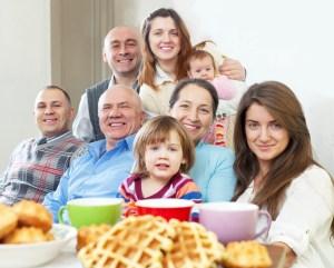 A happy family portrait with a spastic colon secret