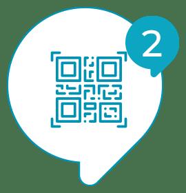 Solvis - Ícone - Como Funciona? - 002 - O usuário escaneia o QR code do adesivo com seu smartphone e registra a resposta