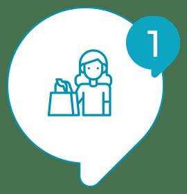 Solvis - Ícone - Como Funciona? - 001 - Você proporciona experiência ao seu cliente na sua loja, restaurante, e-commerce…