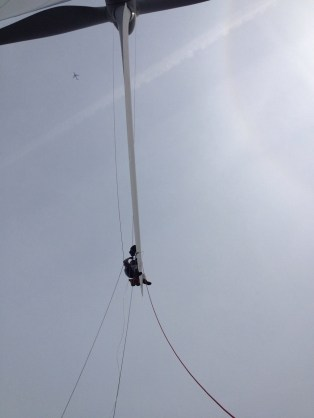 Rope-access worker: out on a limb