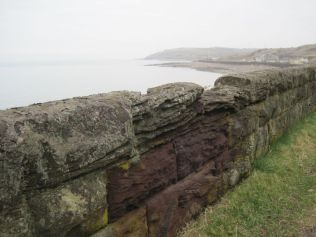 Looking North along a wall
