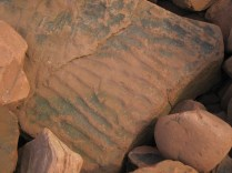 Rippled sandstone