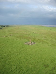 Edward I's monument on Burgh Marsh (photo: Ann Lingard)