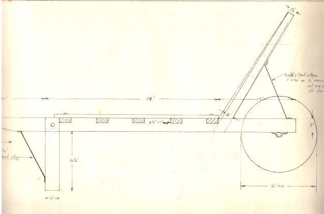 "Part of Malcolm Wilson's scale drawing (2""=1ft)"