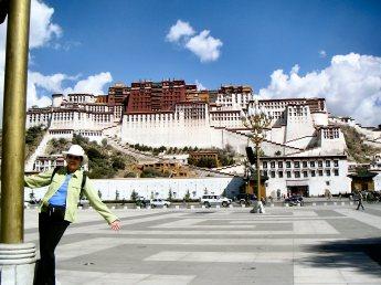 Diana at Potala Palace - Tibet