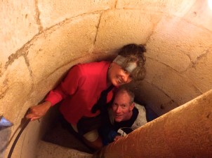 Bob & Joy in the narrow bell tower