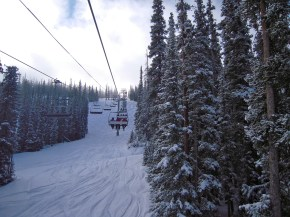 A gorgeous powder day at Keystone.