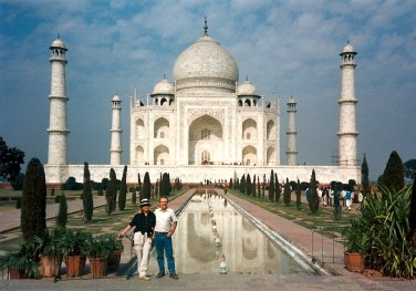 At the Taj Mahal in Agra