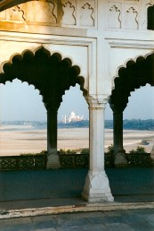 Looking at the Taj from the Red Fort