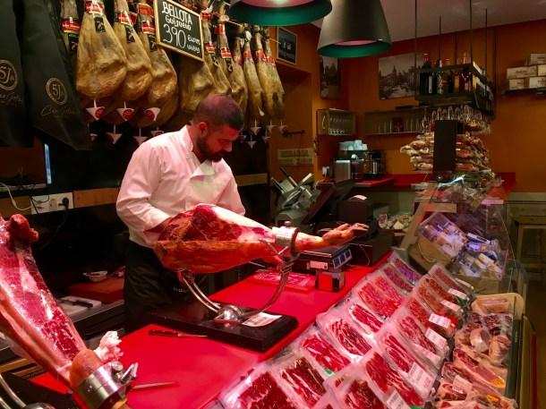 Famous Iberian (acorn-fed) ham