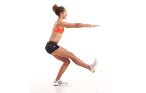 glutes exercise- single leg squat
