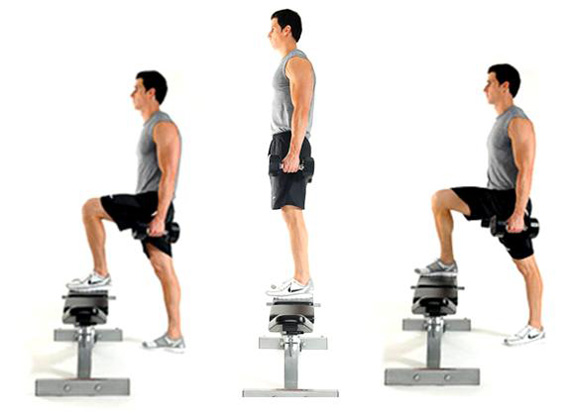 glutes exercise- step ups