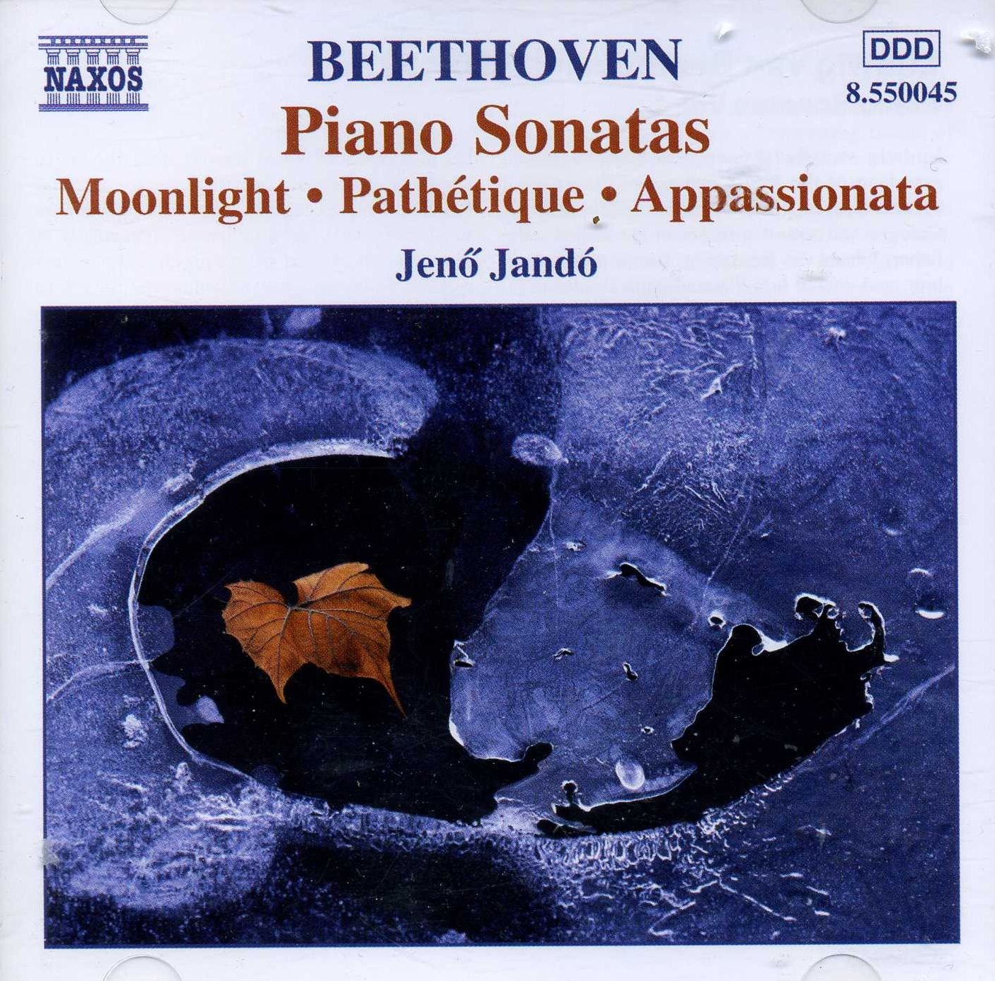 Beethoven Piano Sonatas -  Pathetique   Moonlight   Appassionata  - Jeno Jando_front
