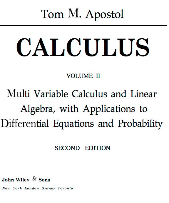 TomApostolCalculus02