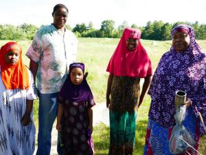 A Somali Bantu family at Liberation Farms