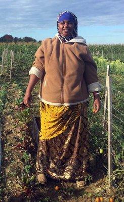 Gamana, a farmer with Liberation Farms