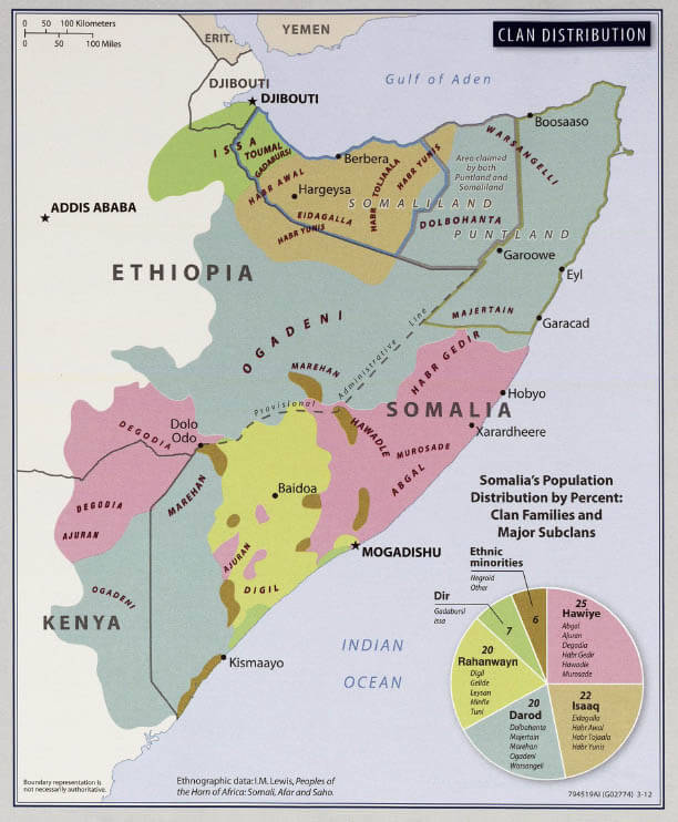Map of eastern Africa