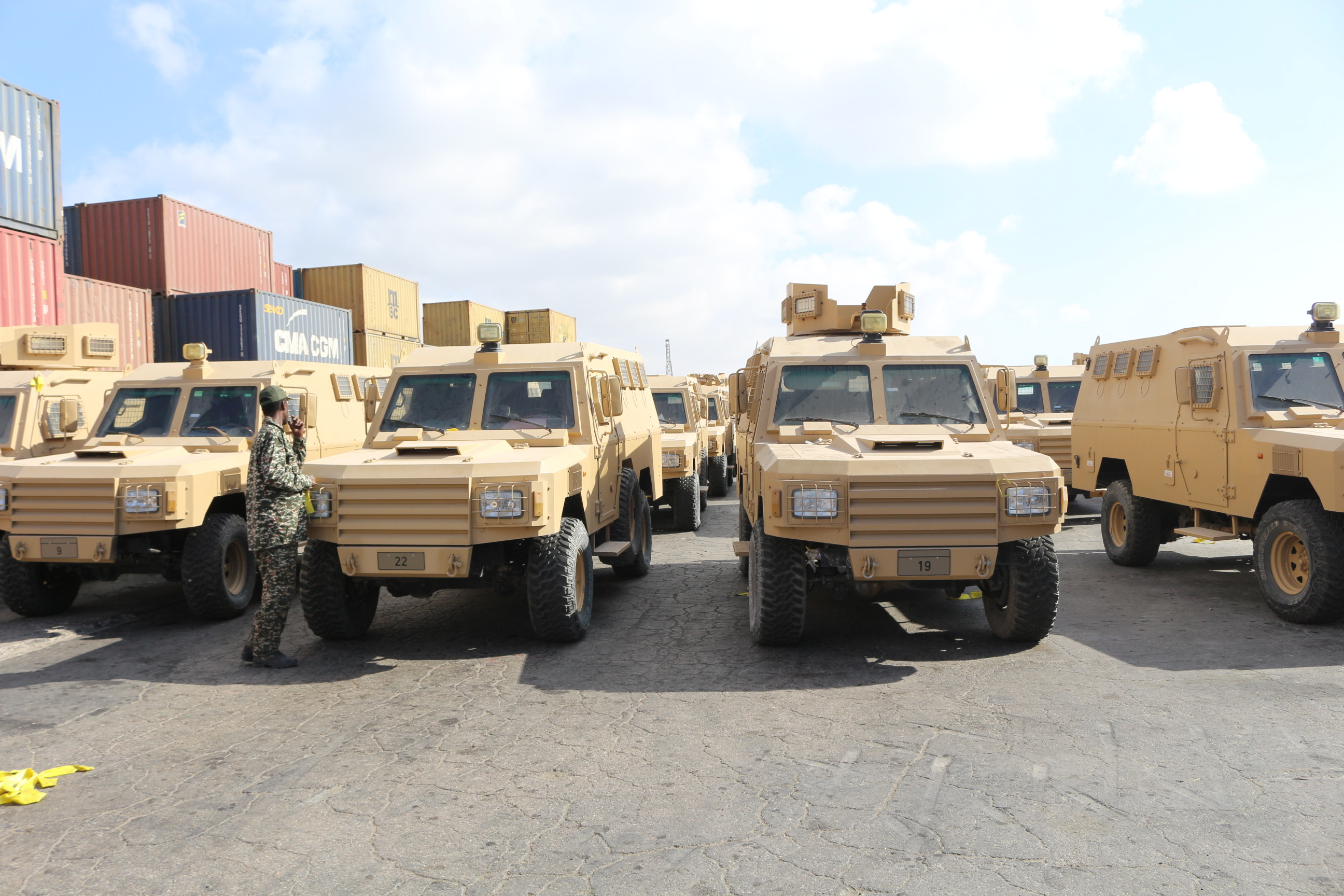 Qatar Government donated to Somalia 68 of Armor Vesicles