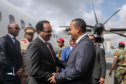 Image result for abby ahmed and farmaajo
