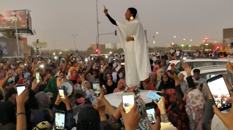photo of a woman chanting has come to symbolize Sudan's protests
