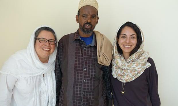 Farhan Warfaa with his attorneys.