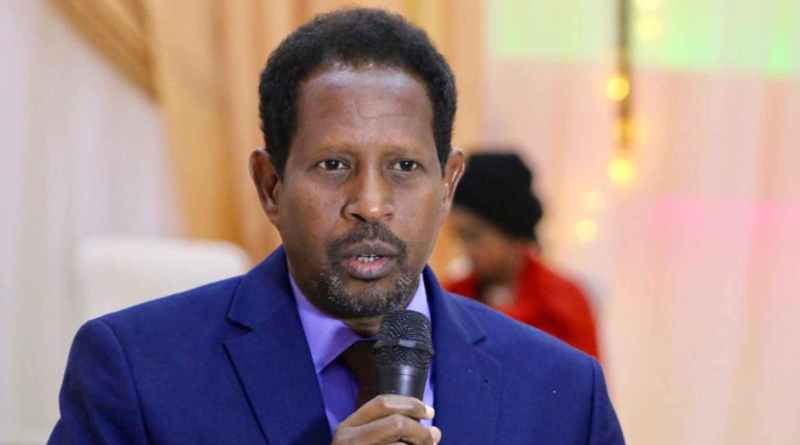 Abdirahman Omar Osman, the mayor of the capital of Somalia, was critically injured after a suicide bomber walked into his office. (Twitter)
