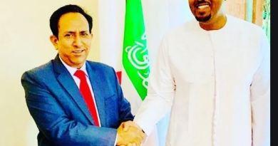 Bashe with Malaysian ambassador