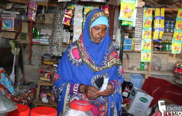 Anab Sheikh Guleid in her shop in Mohamed Moge camp