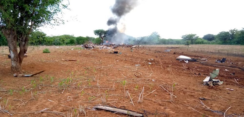 African Express airline crash scene