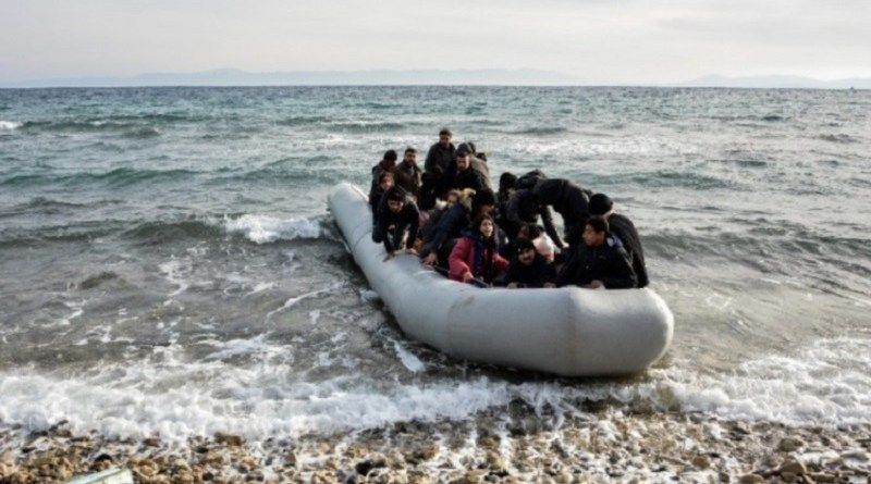 refugees and migrants arriving on Greece's shores
