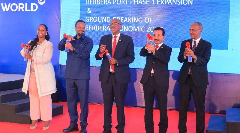 Somaliland President Muse Bihi Abdi and DP World CEO