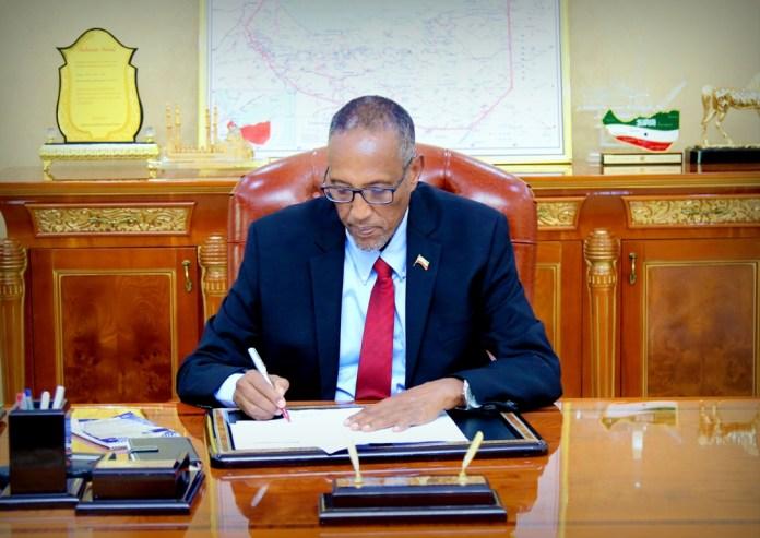 Madaxweynaha Somaliland Md Muuse Biixi Cabdi
