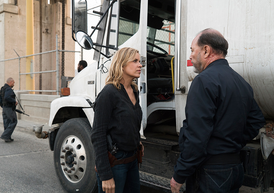 Madison Clark (Kim Dickens) and Daniel Salazar (Ruben Blades) in Episode 11 Photo credit: Richard Foreman Jr/AMC
