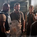 T-Dog (IronE Singleton), Rick Grimes (Andrew LIncoln) and Daryl Dixon (Norman Reedus) in Episode 2 Season 3 of The Walking Dead Photo credit: Gene Page/AMC