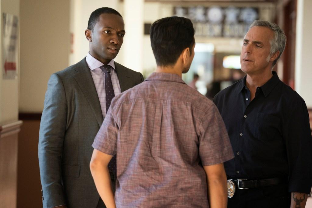 """Bosch: Season 4"" - Bosch_Jamie Hector and Titus Welliver in Season 4 of Bosch."