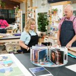 "MAKING IT -- ""You Crafty"" Episode 101 -- Pictured: (l-r) Amy Poehler, Jeff -- (Photo by: Paul Drinkwater/NBC)"