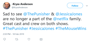 Netflix Cancels Jessica Jones and The Punisher