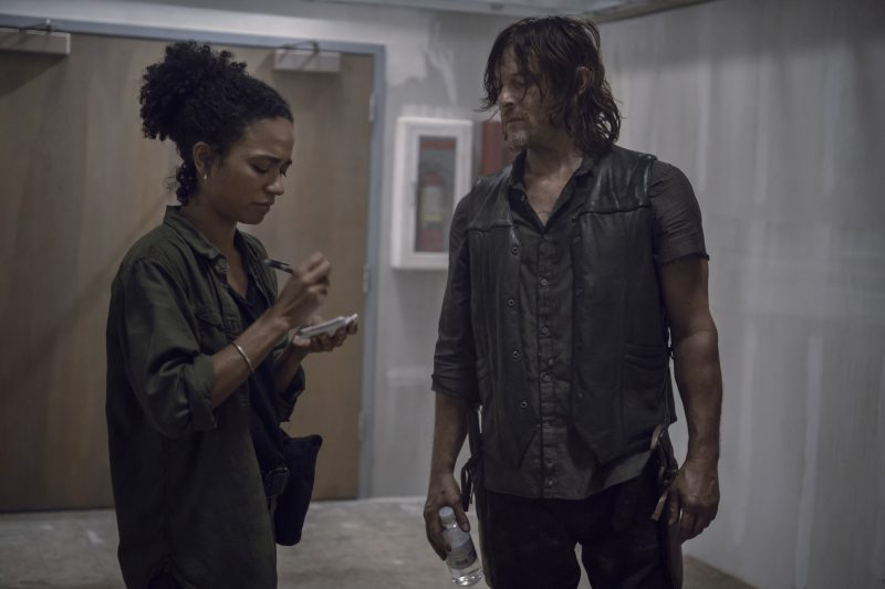 Lauren Ridloff as Connie, Norman Reedus as Daryl Dixon - The Walking Dead _ Season 9, Episode 13 - Photo Credit: Gene Page/AMC